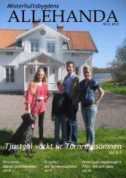 Informationsblad nr 2, 2012 - Misterhultsbygden