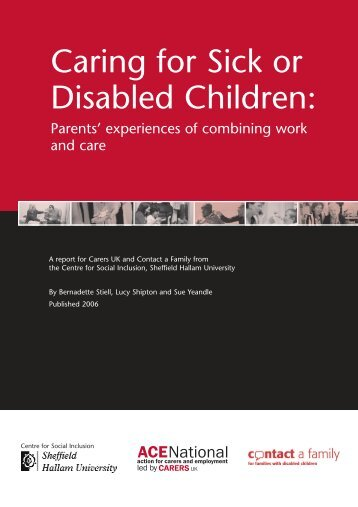 Caring for Sick or Disabled Children - Sheffield Hallam University
