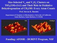 Size-Selected Vanadium Oxide Clusters on TiO2(110) - PIRE-ECCI
