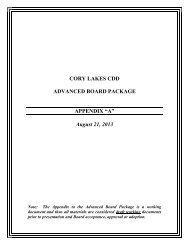 July 2013 BOS Meeting & Sub Committee Meeting ... - cory lake isles