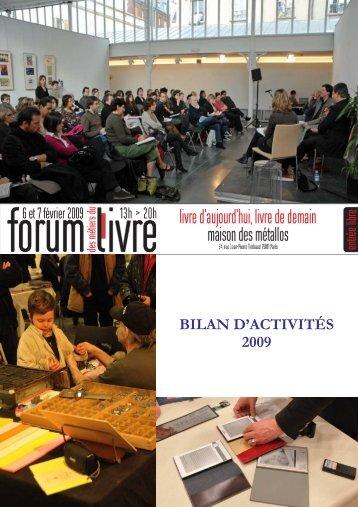 Forum des Métiers du Livre 2009