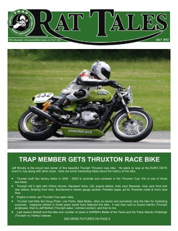 July 2012 - Triumph Riders Association of Portland