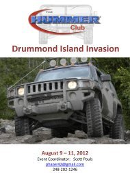 Event Information - The Hummer Club