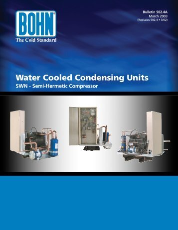 Water Cooled Condensing Units - Bohn