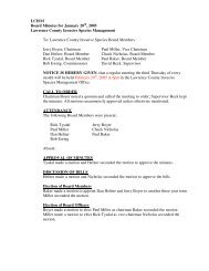 LCISM Board Minutes for January 20 , 2005 Lawrence County ...