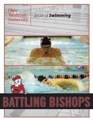 2010-11 Swimming - Ohio Wesleyan University