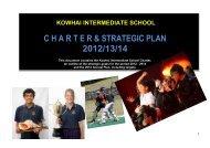 kowhai intermediate school charter & strategic plan 2012/13/14