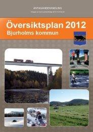 Översiktsplan 2012 - Bjurholm kommun