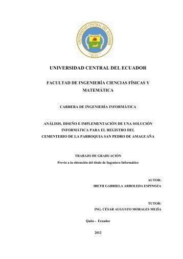 UNIVERSIDA CENTRAL DEL ECUADOR - Universidad Central del ...