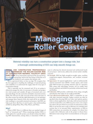 Managing the Roller Coaster