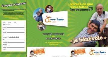 «je bénévole - Bénévoles APF Evasion