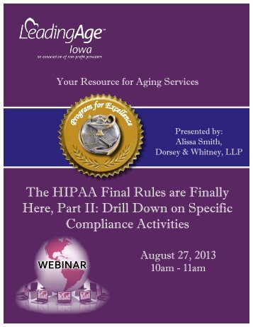 The HIPAA Final Rules are Finally Here, Part II: Drill Down on ...