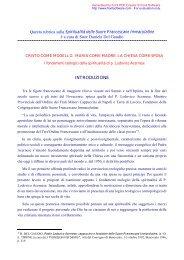 Introduzione - Suore Francescane Immacolatine