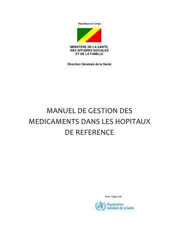 Manuel de gestion des médicaments dans les hôpitaux de référence
