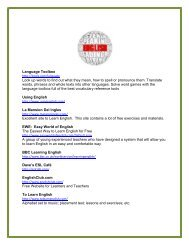 Elma's List of free sites for learning English - Longwood Public Library