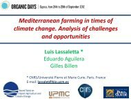 Mediterranean farming in times of climate change ... - ORGANIC DAYS