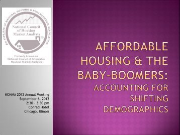 NCHMA 2012 Annual Meeting September 6, 2012 2:30 – 3:30 pm ...