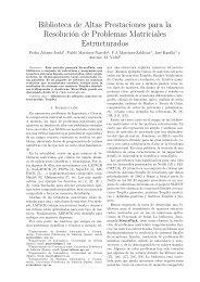 Biblioteca de Altas Prestaciones para la Resolución de ... - JP2011