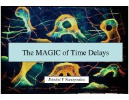 The MAGIC of Time Delays