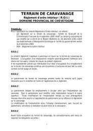 PDF (64 kb) - Domaine Provincial de Chevetogne