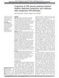 Comparison of CPR outcome predictors between ... - Koh Tao EMS