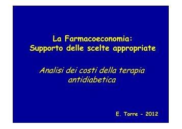Analisi dei costi della terapia antidiabetica