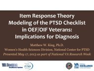 Item Response Theory Modeling of the PTSD Checklist in OEF/OIF ...