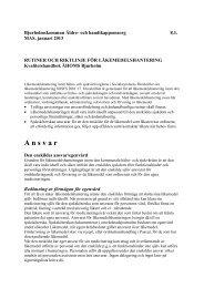Riktlinjer och lokala rutiner - Bjurholm kommun
