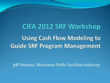 Using Cash Flow Modeling to Guide SRF Program Management