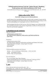 Jahresbericht 2011 Schleswig-Holstein - Giftinformationszentrum-Nord