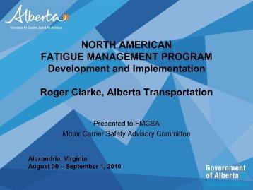 Why Fatigue Management - MCSAC