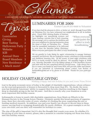 TheColumns_Dec09_Page1 - Forest Hills Neighborhood Association