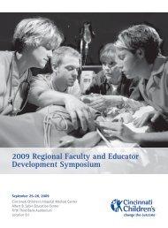 2009 Regional Faculty and Educator Development Symposium