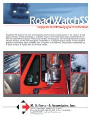 Product Brochure (PDF*) - MS Foster & Associates, Inc.
