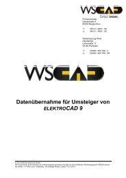 Datenübernahme Elektrocad 9 in WSCAD SUITE