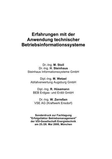öffnen - Steinhaus Informationssysteme GmbH