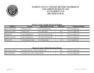 MARION COUNTY WEIGHT RESTRICTED BRIDGES AND ...