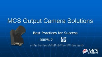 Output Camera Solutions - MCS