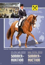 8. August 2010 for Young Horses Internationales DRESSUR