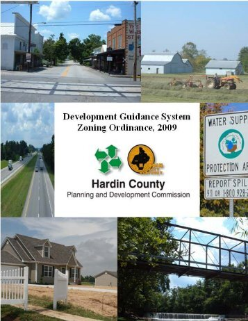 Development Guidance System Ordinance, 2009 - Hardin County ...