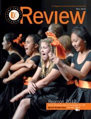 Fall 2012 Review - Lake Forest Academy