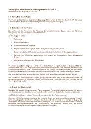 Satzung des Arbeitskreis Baubiologie Mainfranken e.V
