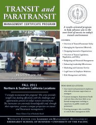 TRANSIT and PARATRANSIT - University of the Pacific
