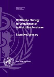 Executive summary - World Health Organization