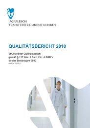 Qualitätsbericht 2010 - AGAPLESION MARKUS KRANKENHAUS