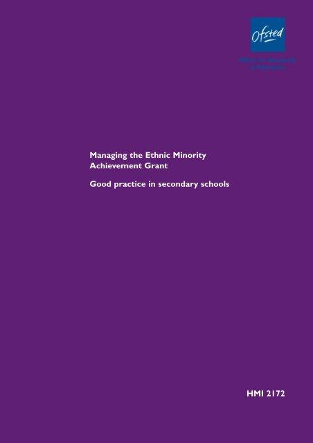 Good practice in secondary schools - NALDIC