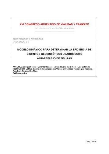 Modelo dinámico para determinar la eficiencia de distintos ... - LEMaC