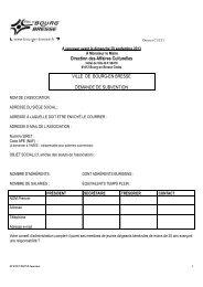 Dossier de demande de subvention DAC 2014 - Bourg-en-Bresse