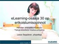 eLearning-osaaja 30 op erikoistumisopinnot - IT-kouluttajat ry