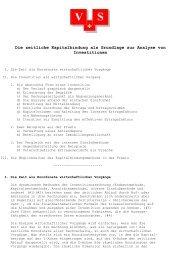 Die zeitliche Kapitalbindung als Grundlage zur Analyse von ...